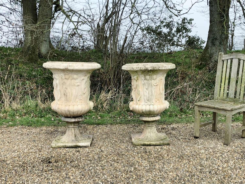 Pair of Large Medici Urns