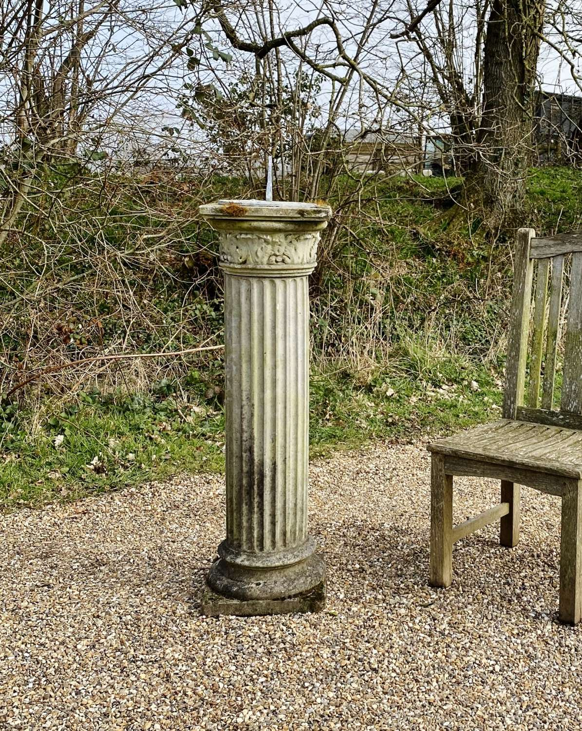 Large Column Sundial with Lead Plate
