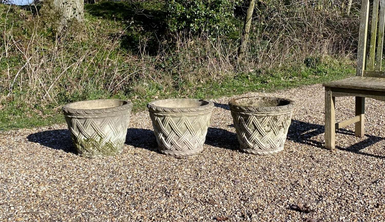 Basket Weave Planters