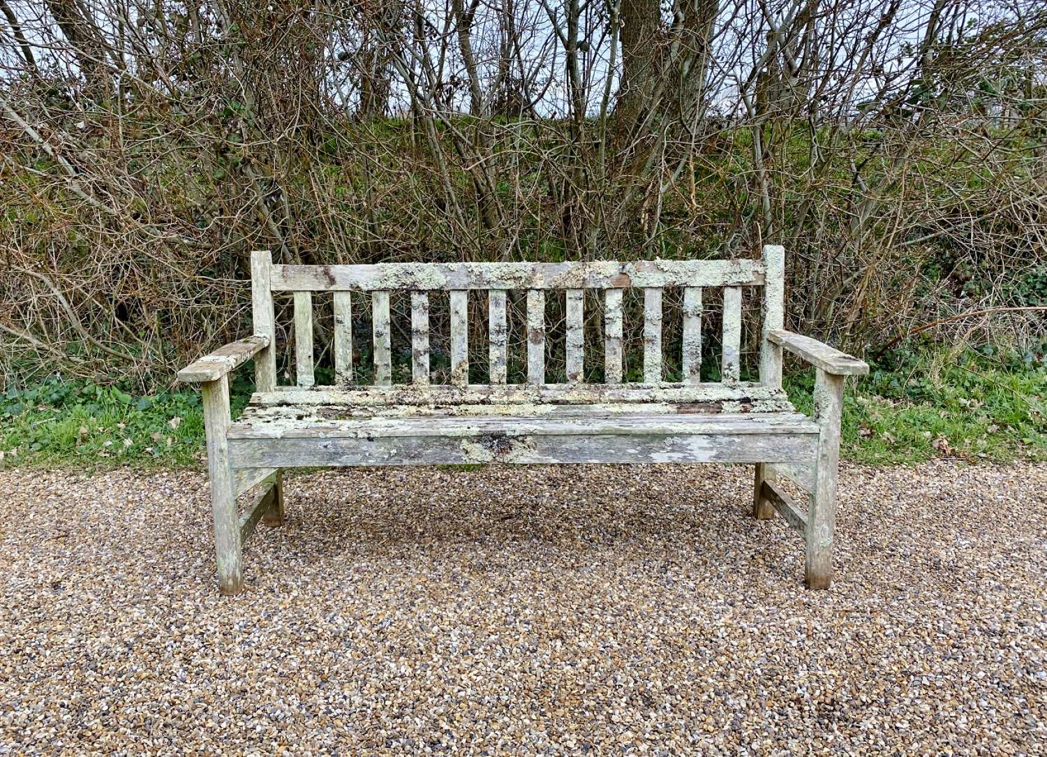 Lister Bench with Lichen