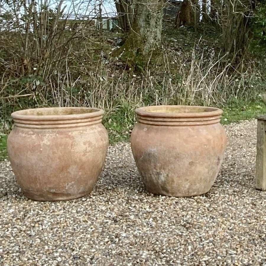 Pair of Simple Terracotta Planters