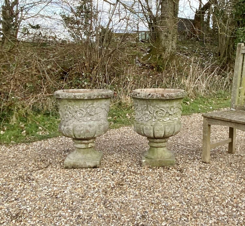 Pair of Flower Urns