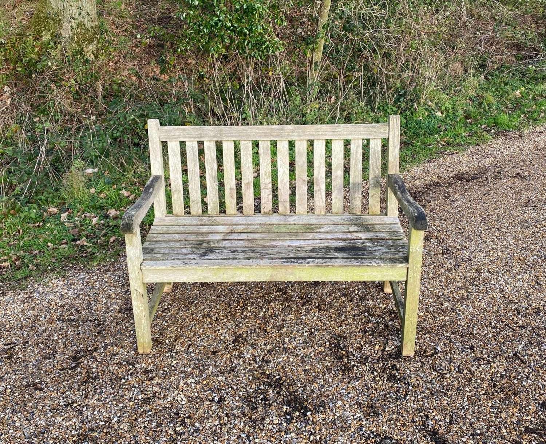 Weathered Garden Bench