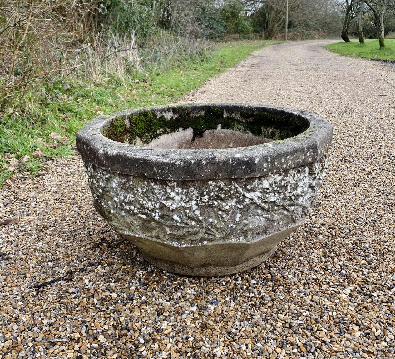 Large Patinated Kensington Bowl