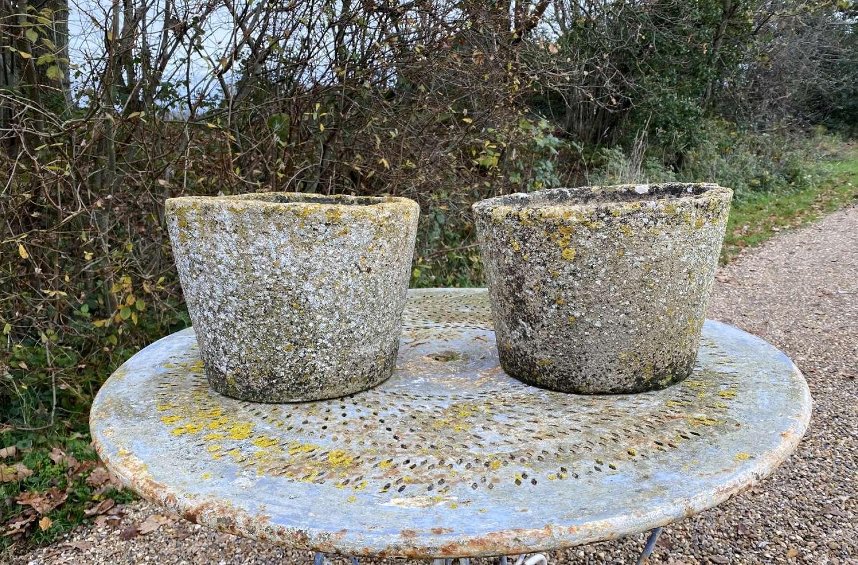 Pair of Lichen Planters