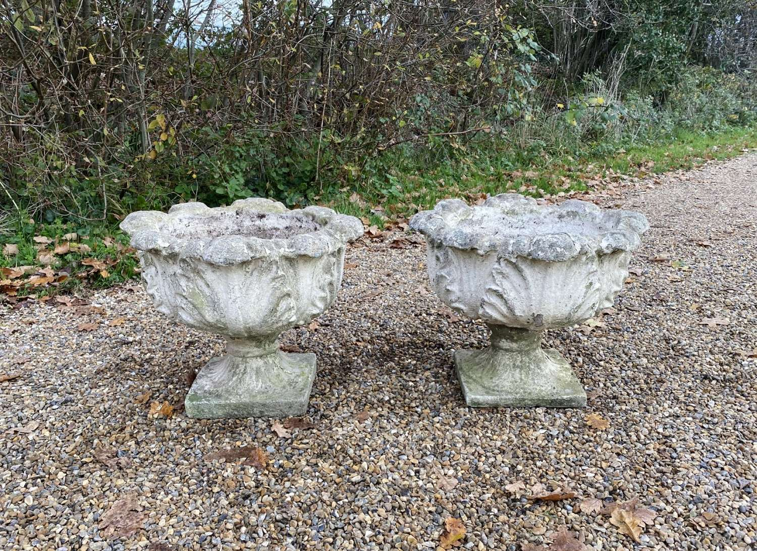 Pair of Acanthus Urns