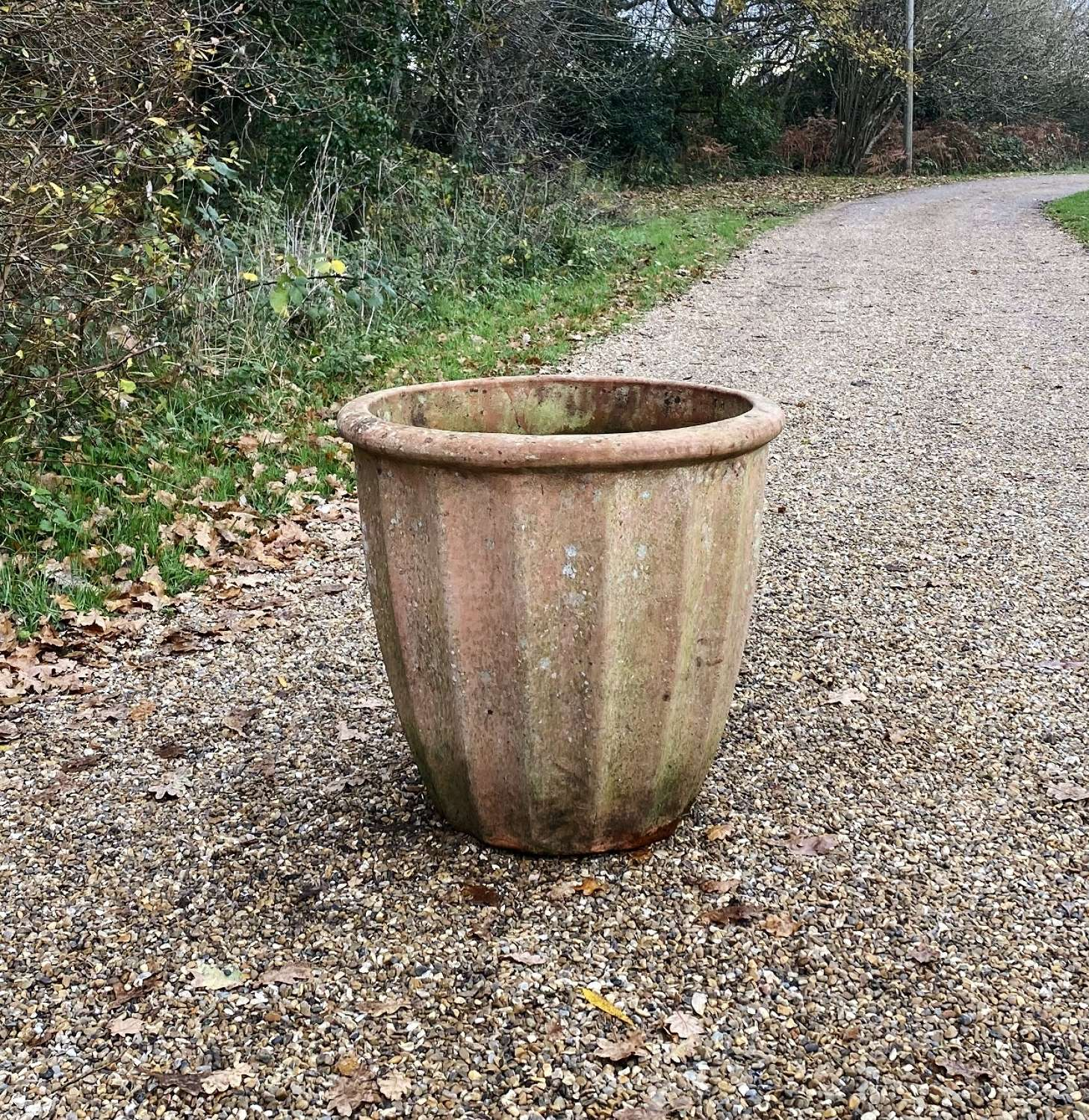 Large Fluted Terracotta Planter