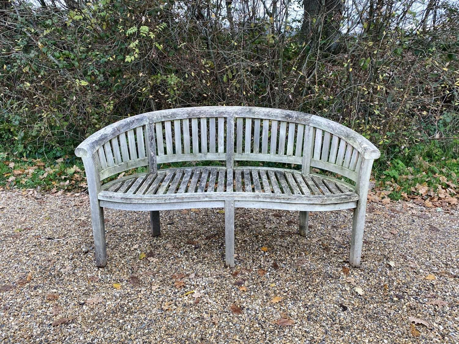Weathered Curved Seat