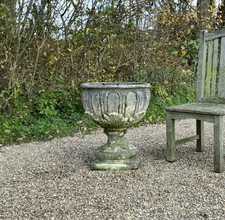 Weathered Bowl Urn