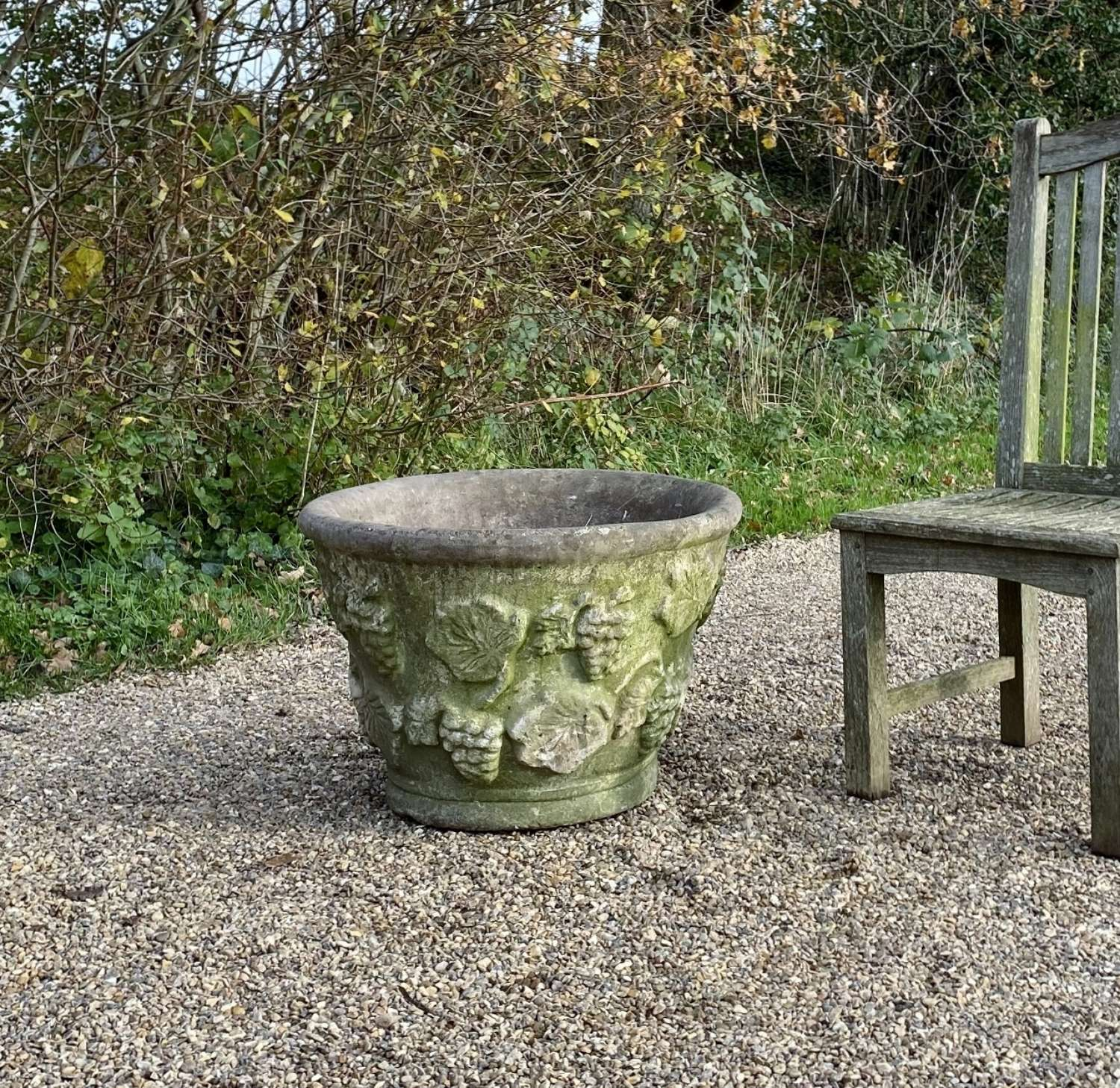 Weathered Grape Planter