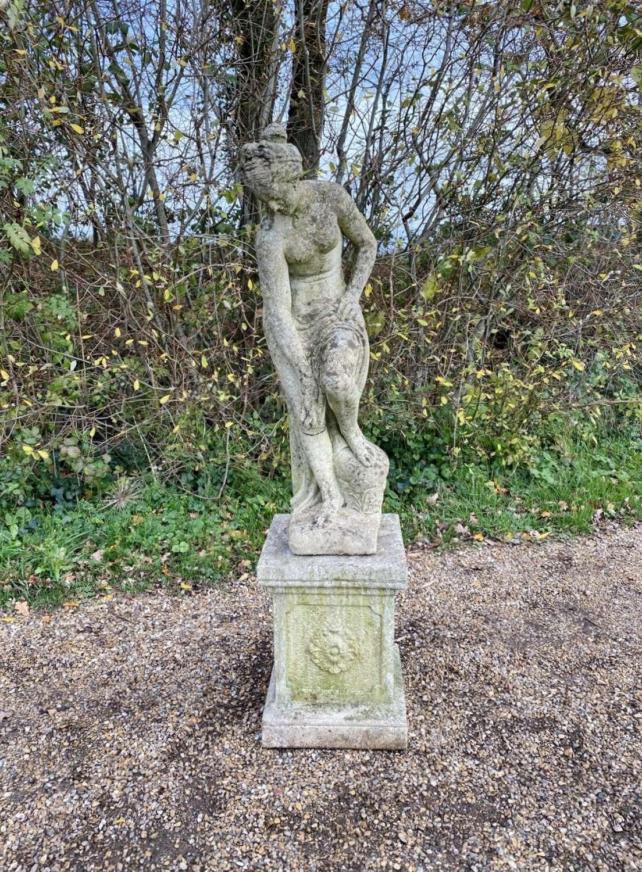 Venus Bathing with Pedestal