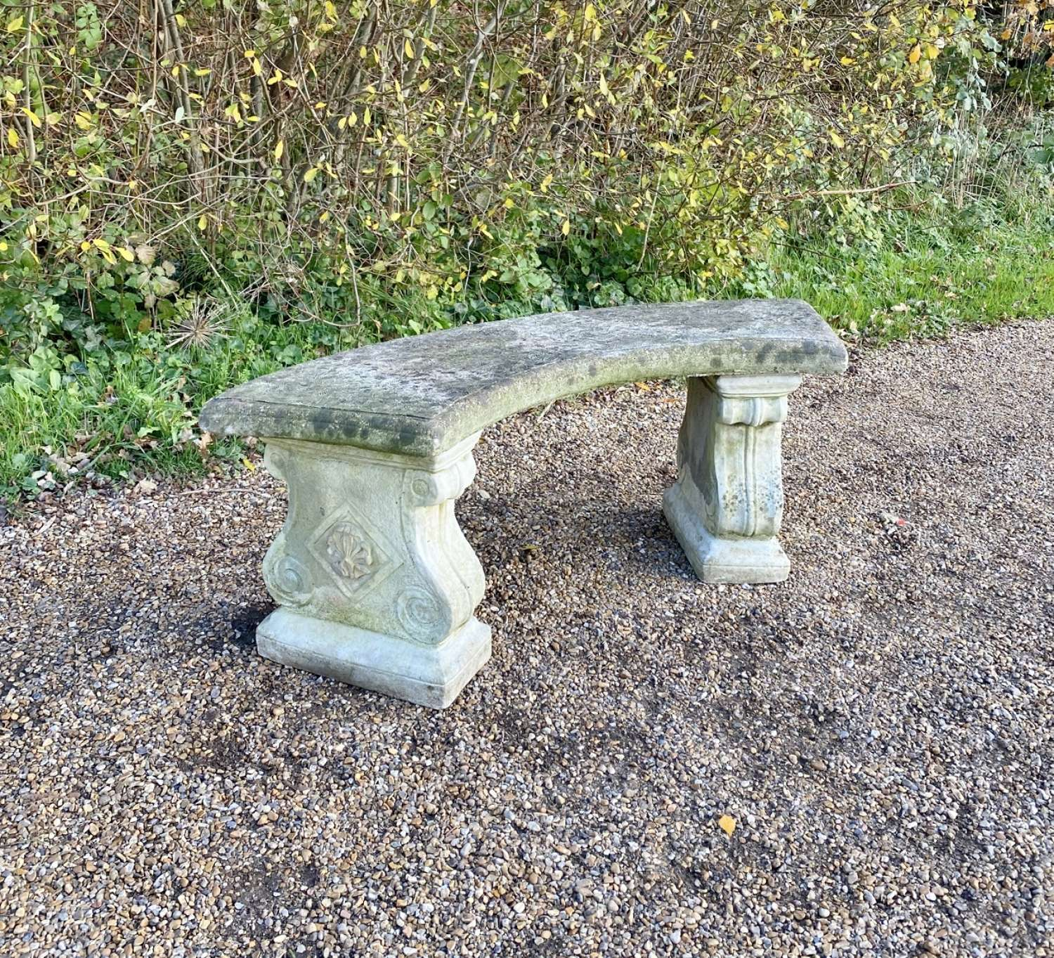Curved Stone Seat