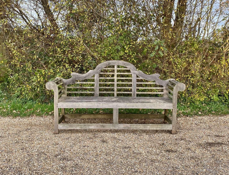 Long Weathered Lutyen Bench