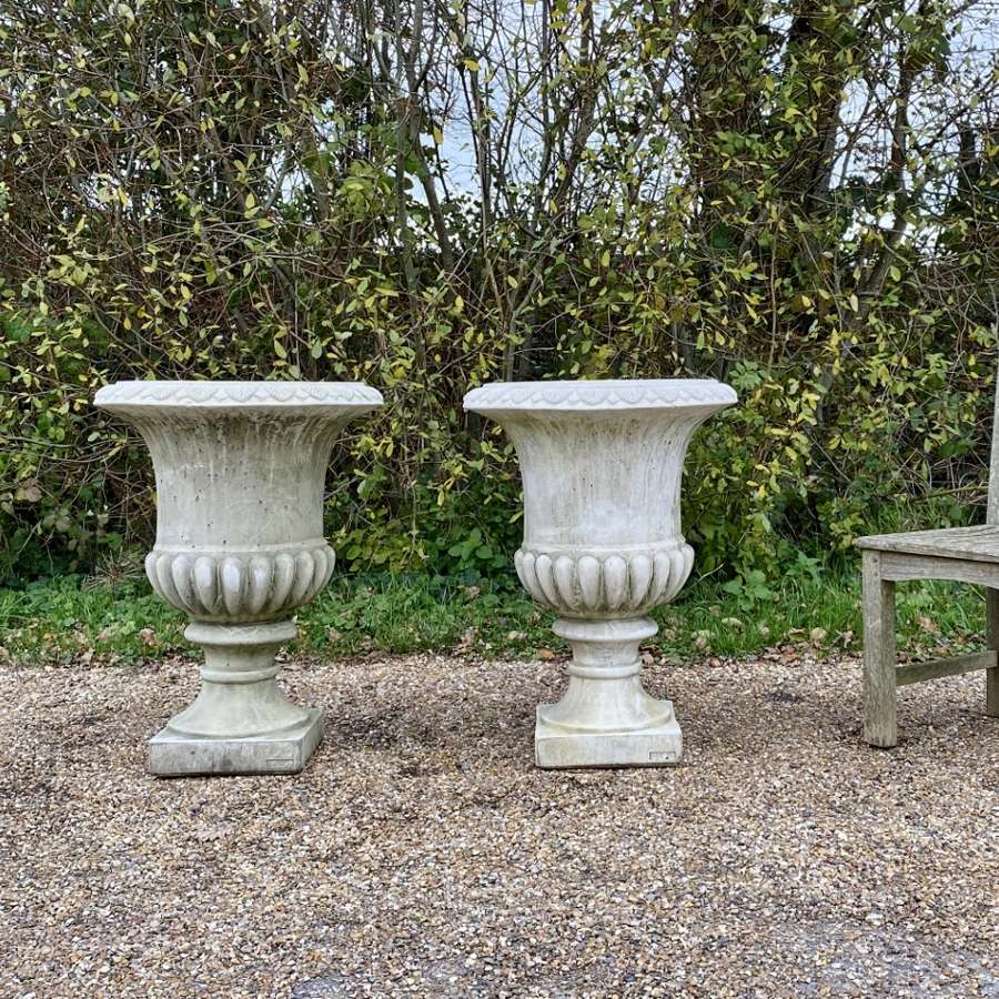 Pair of Large Campania Urns