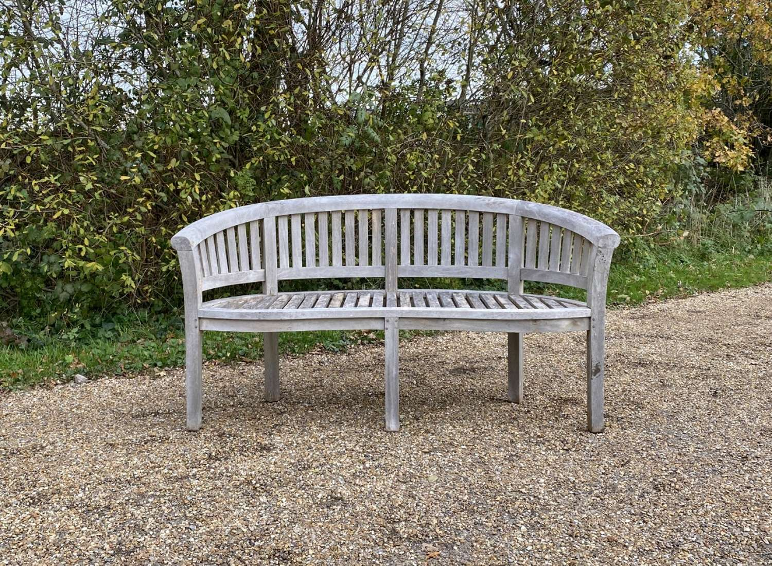 Silvered Curved Seat