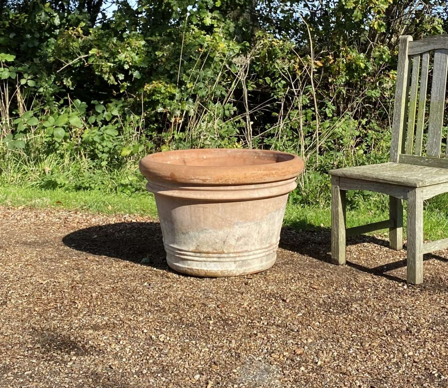 Large Weathered Terracotta Planter
