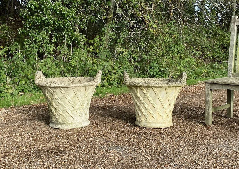 Pair of Basket Planters