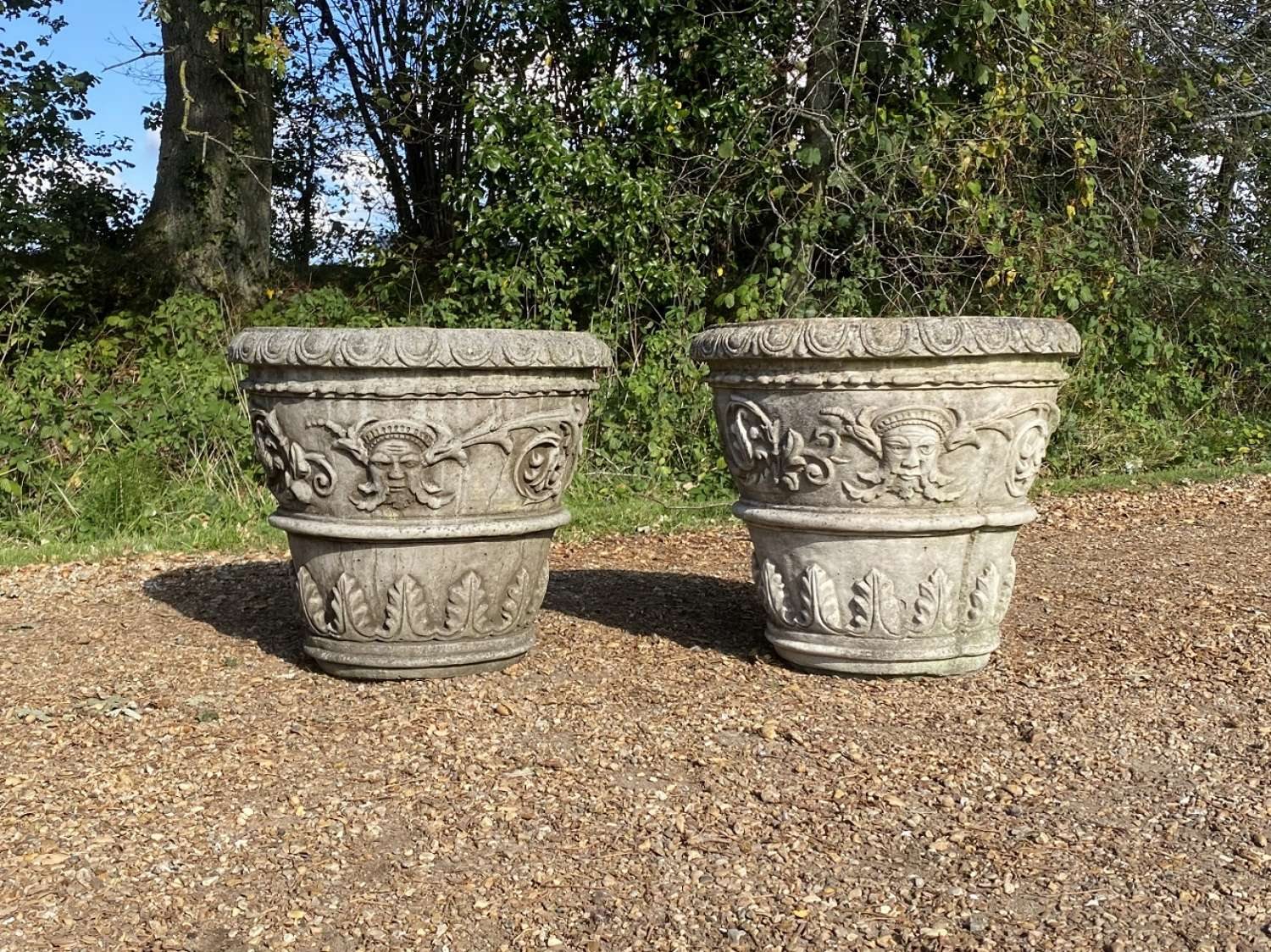 Pair f Decorative Planters