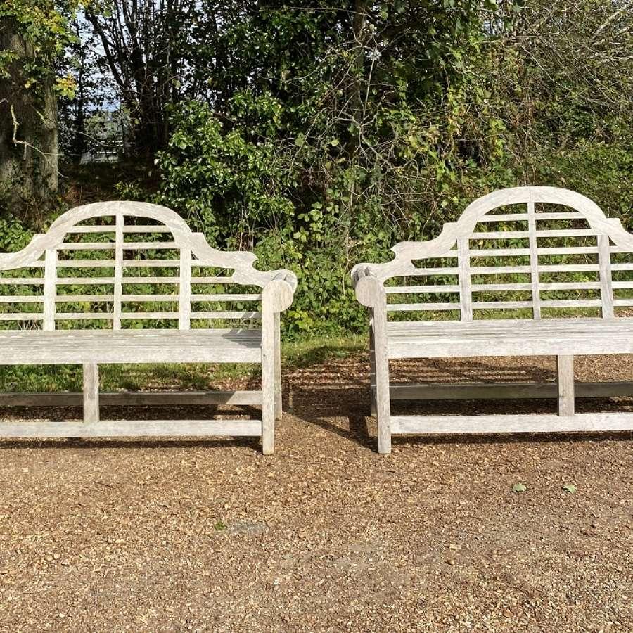 Pair of Lutyen Benches