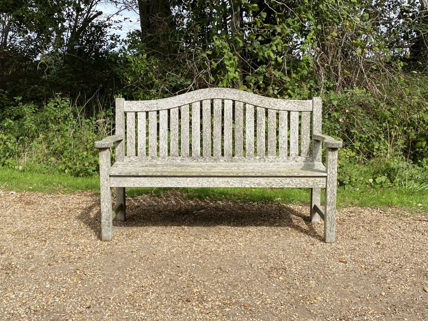 Patinated Arched Back Bench