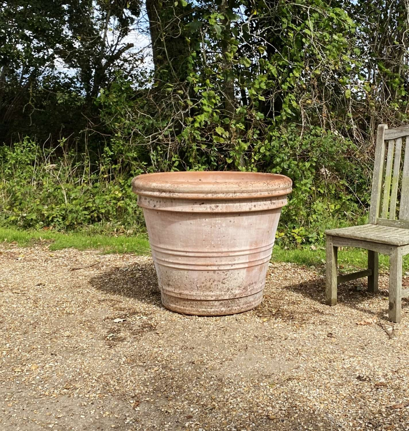 Very Large Patinated Planter