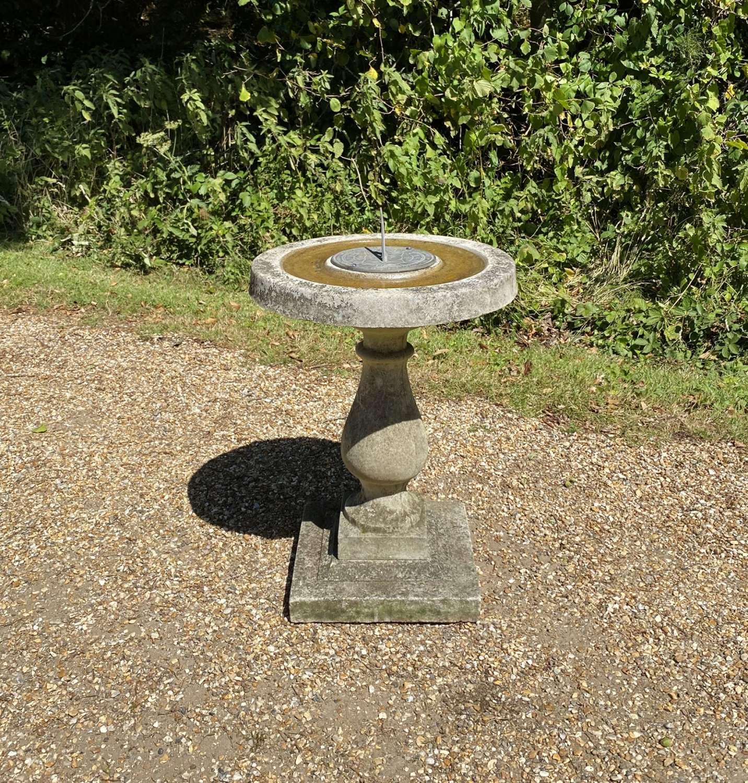 Bird Bath with Sundial