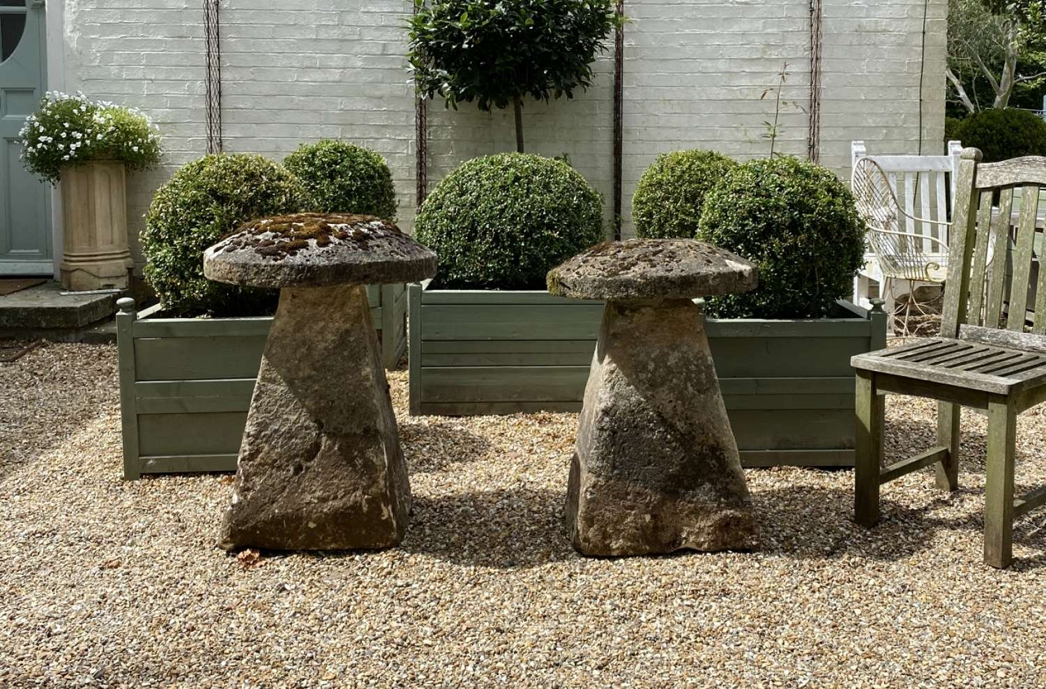 Pair of Large Staddle Stones