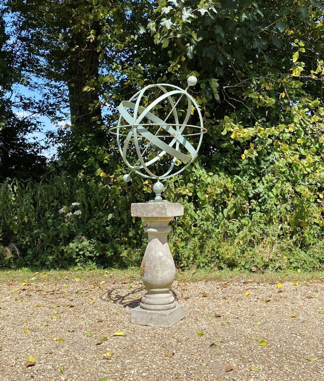 Decorative Armillary on Balustrade Base