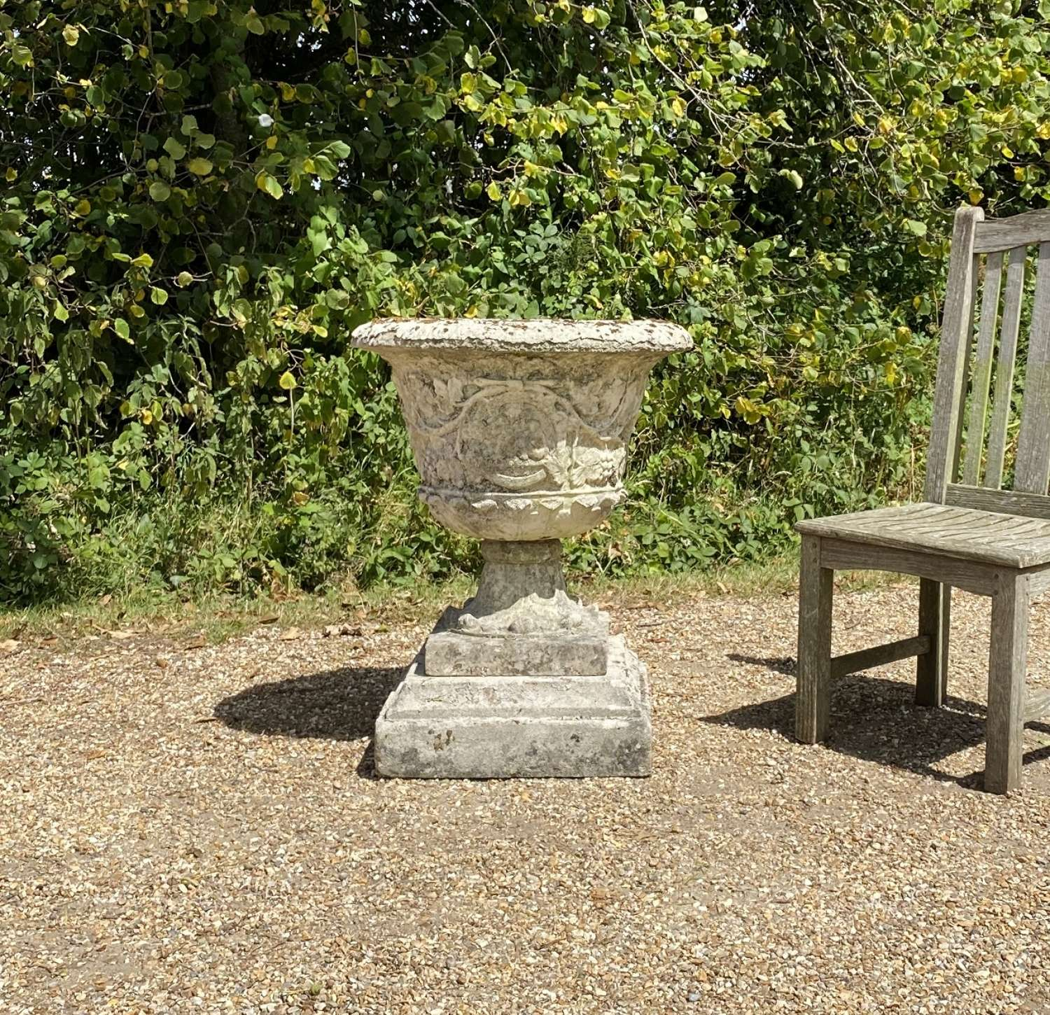 French Urn with Flaky Paint