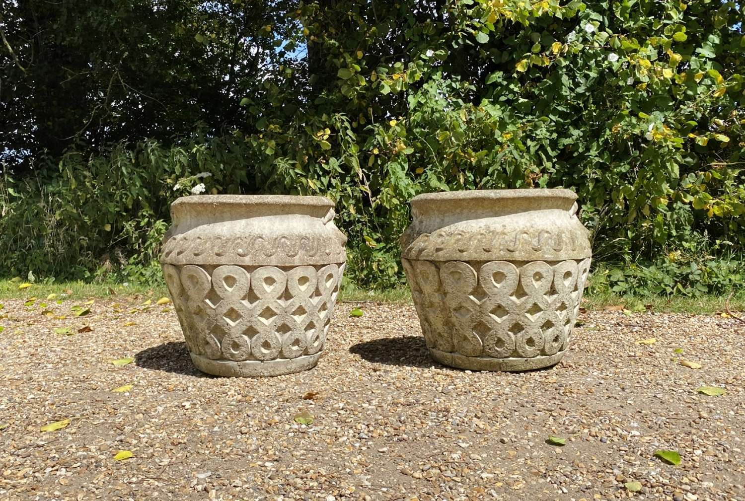 Pair of Cotswold Stone Planters