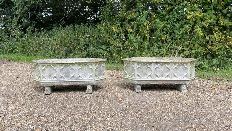 Pair of Decorative Troughs