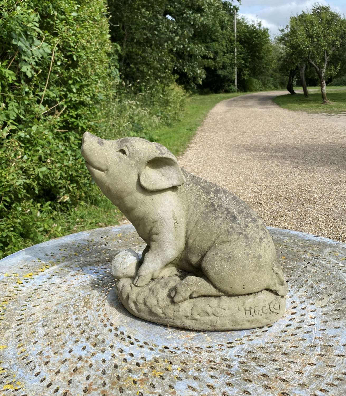 Stone Pig with Apple