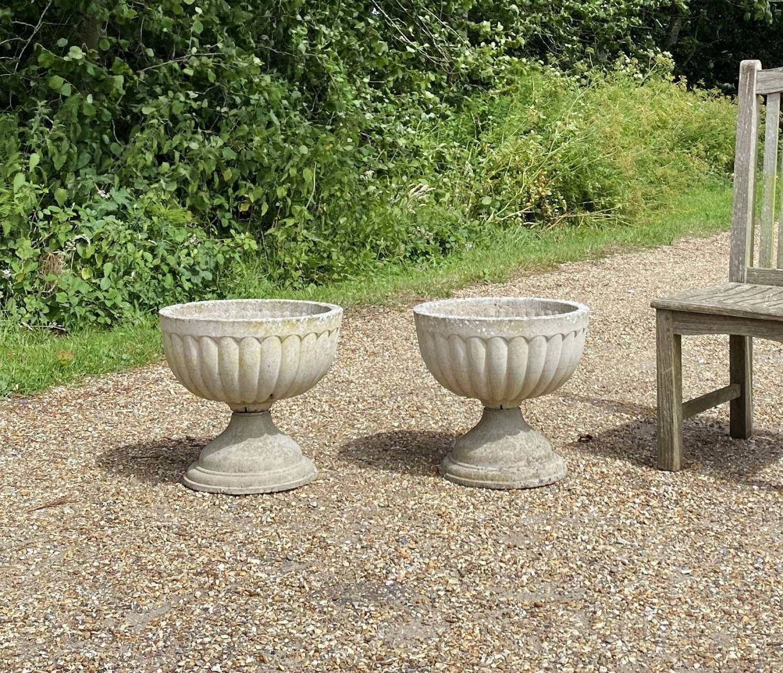 Pair of Bowl Urns