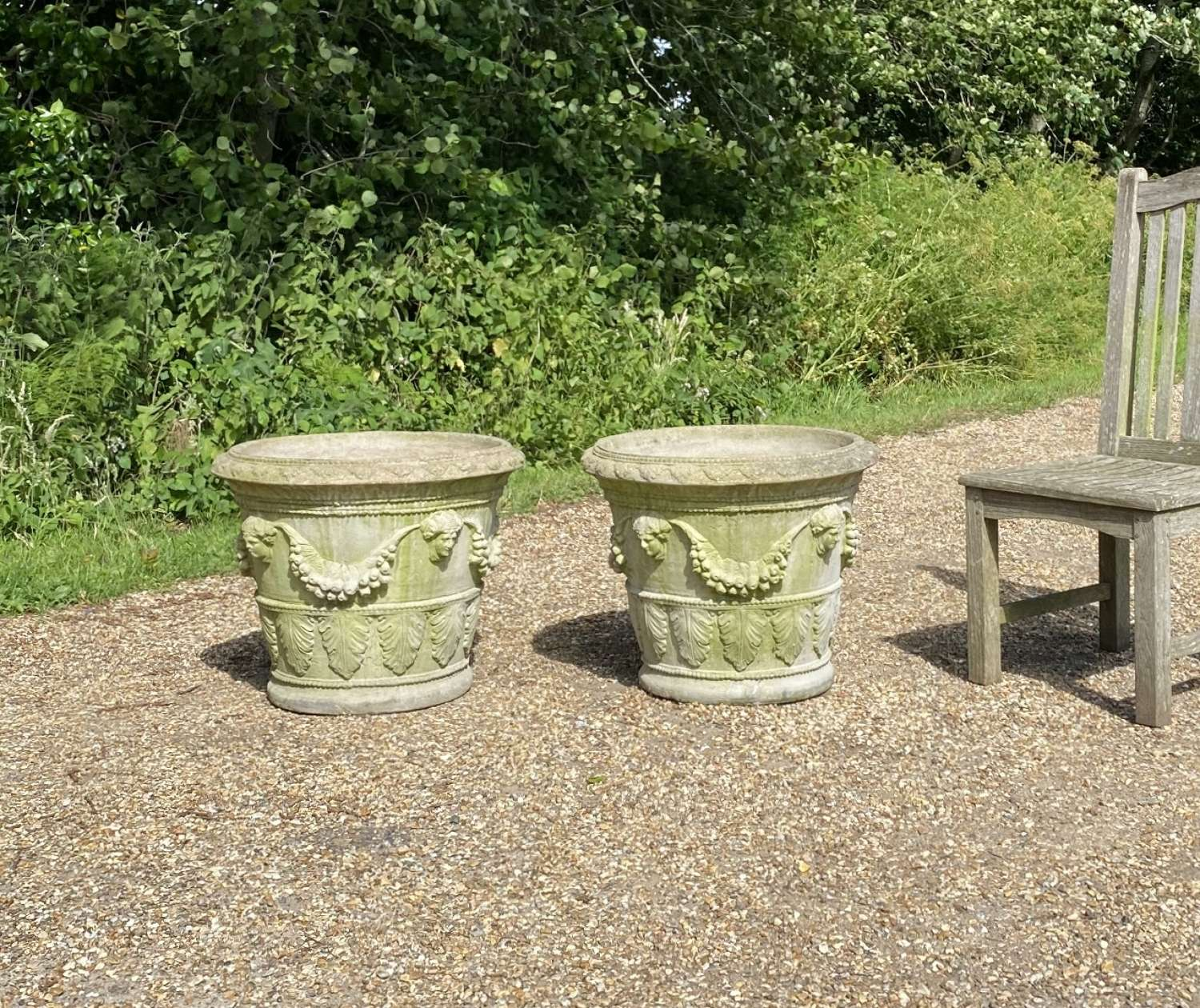 Pair of Large Decorative Planters