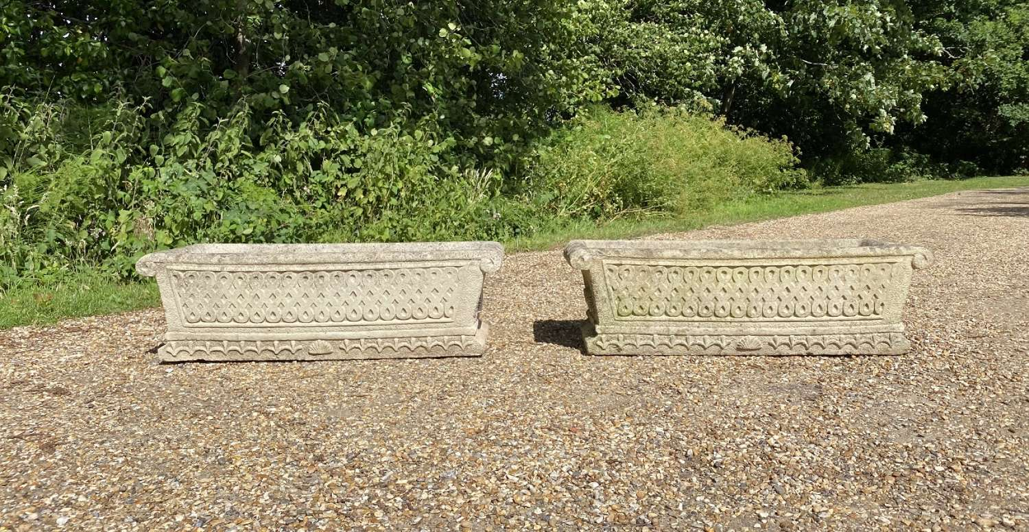 Pair of Large Cotswold Troughs