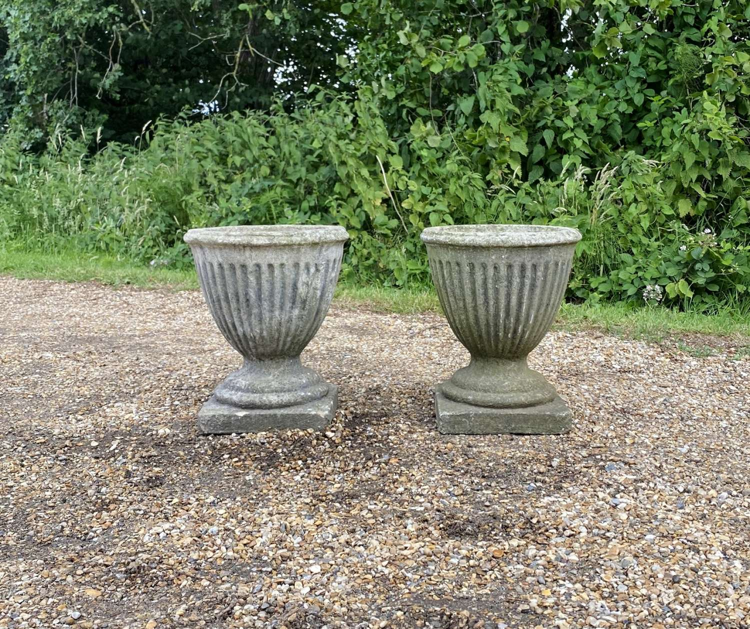 Pair of Patinated Vases
