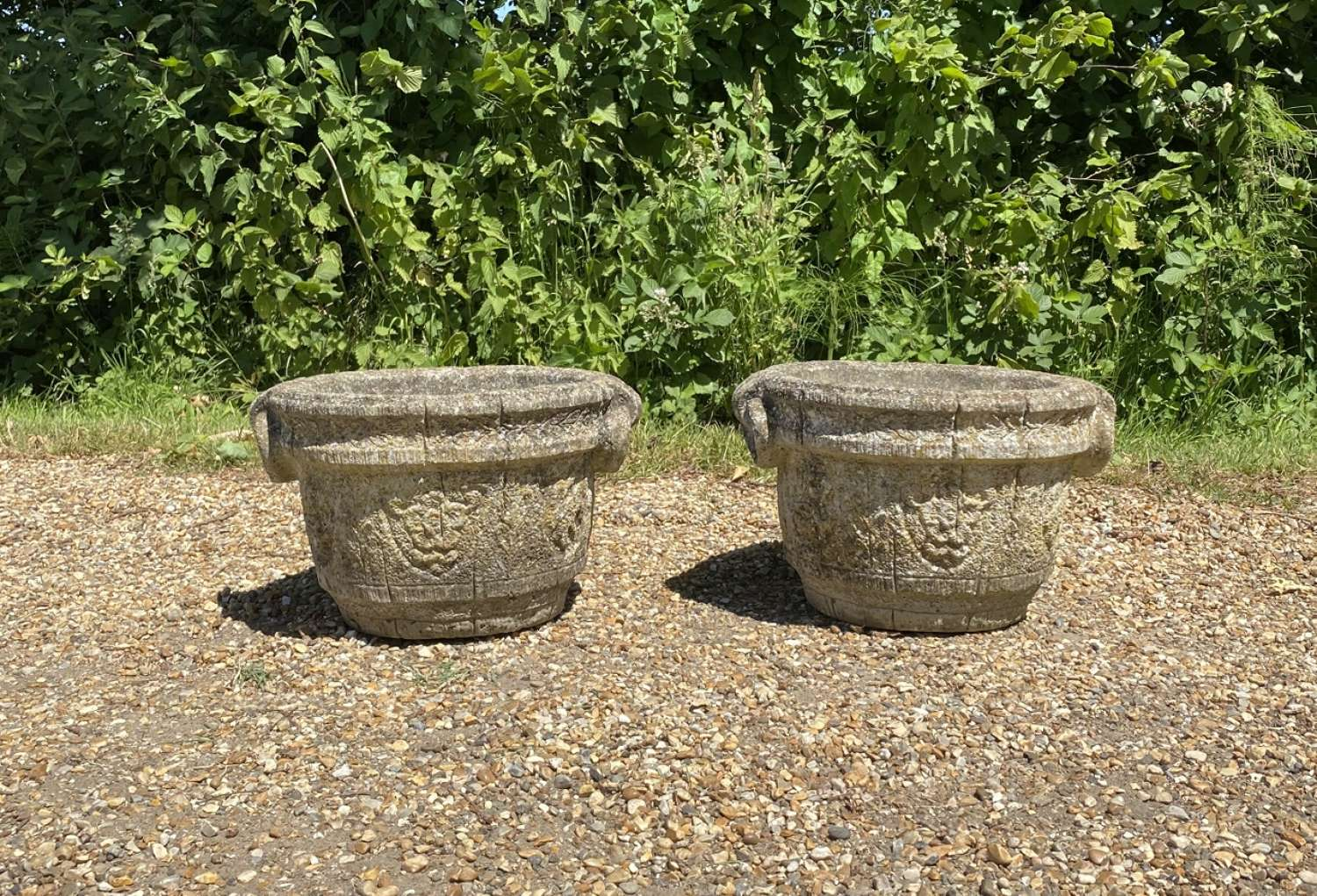 Pair of Ring Handled Planters