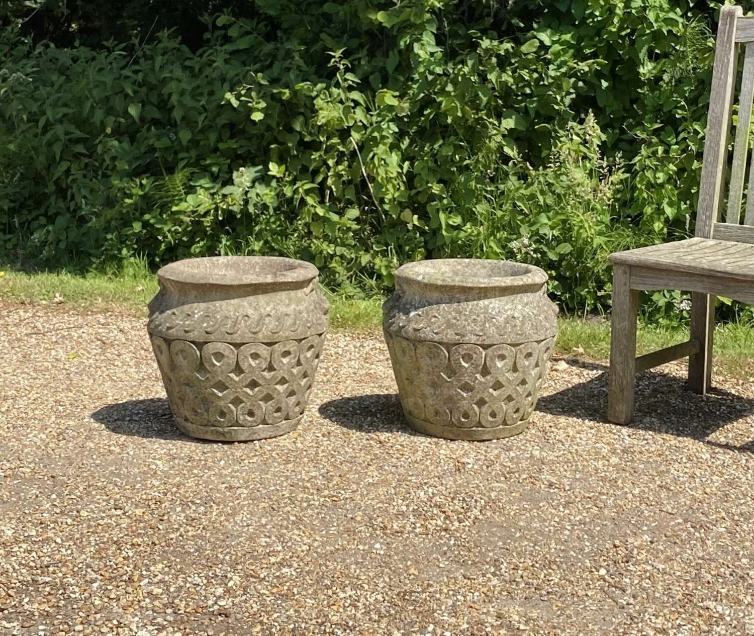 Pair of Patinated Cotswold Planters