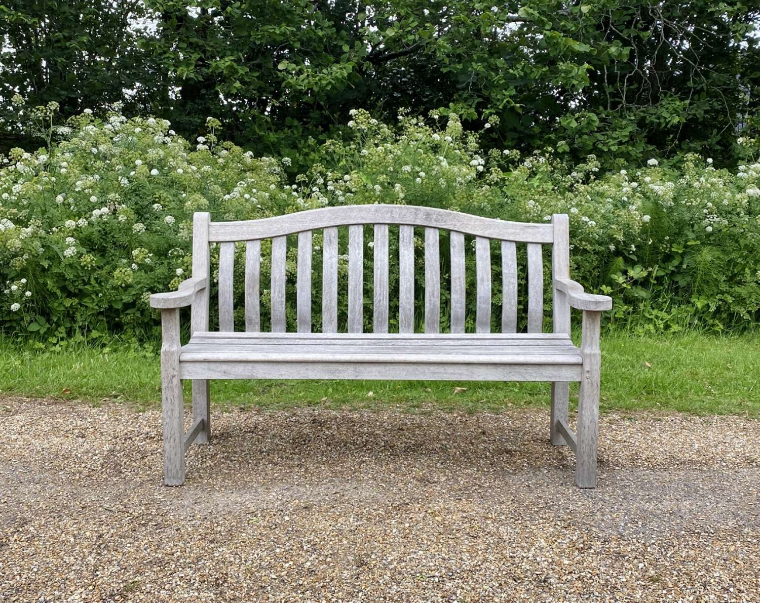 Silvered Arched Back Bench