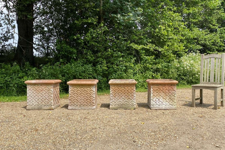 Large Terracotta Square Planters