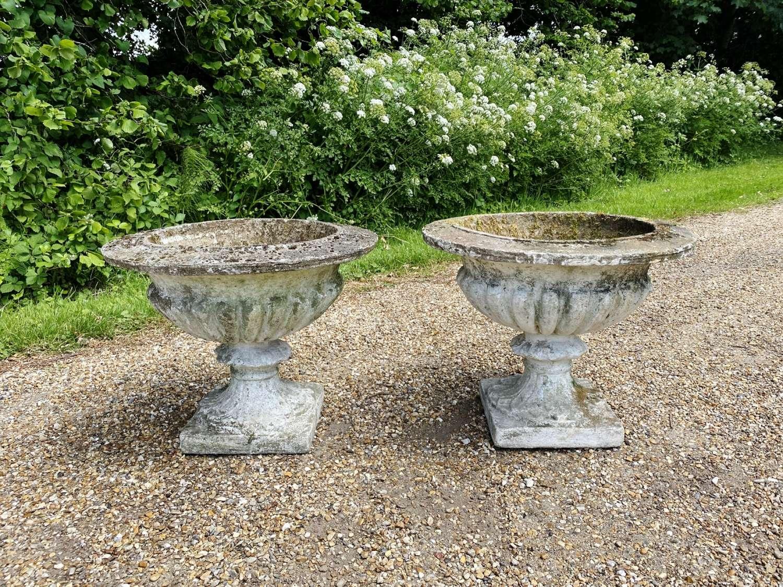 Pair of Mid-Century Urns