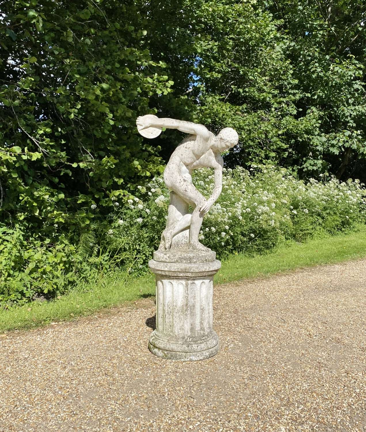 Discus Figure with Pedestal