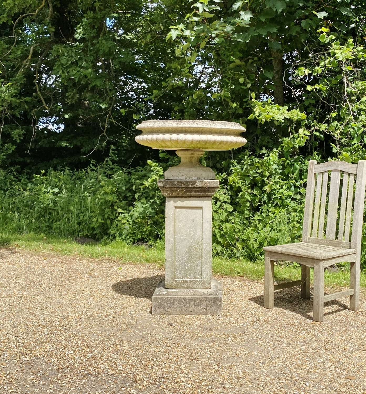 Large Tazza Urn and Pedestal