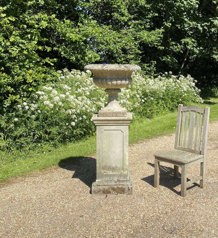 Large Urn and Pedestal