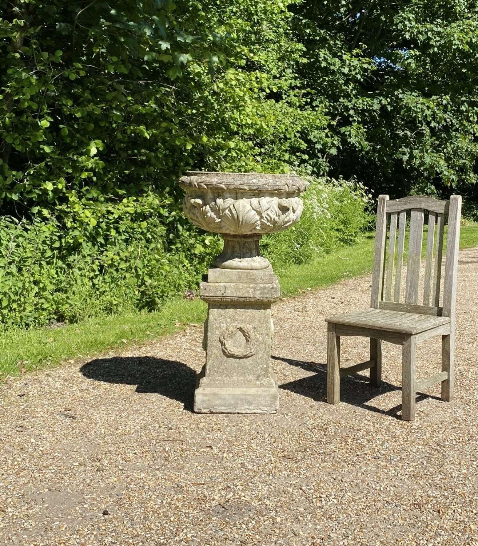 Acanthus Leaf Urn and Pedestal