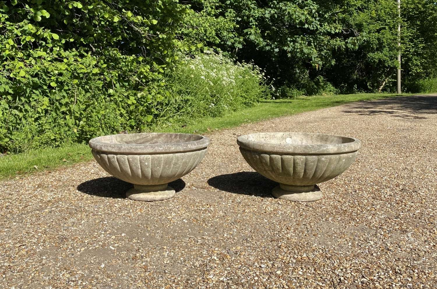 Pair of French Bowl Planters