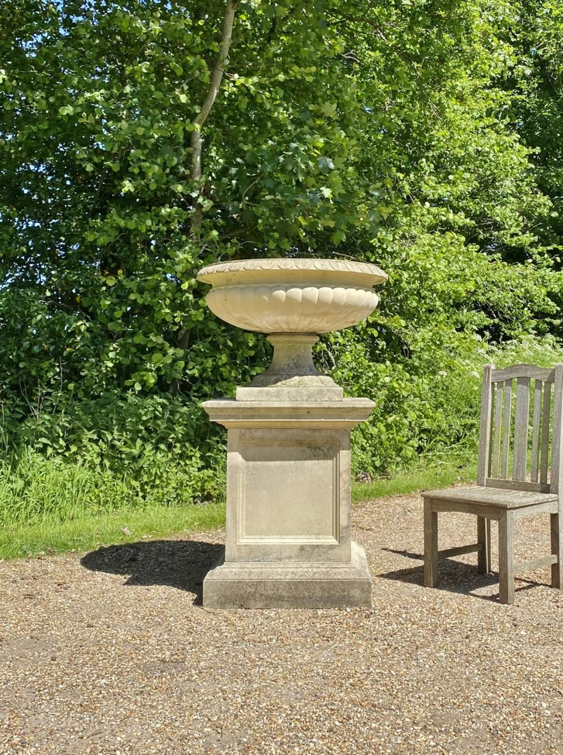 Very Large Fontainebleau Urn and Pedestal