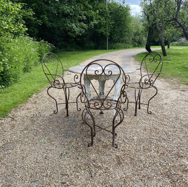 Marble Seating Set