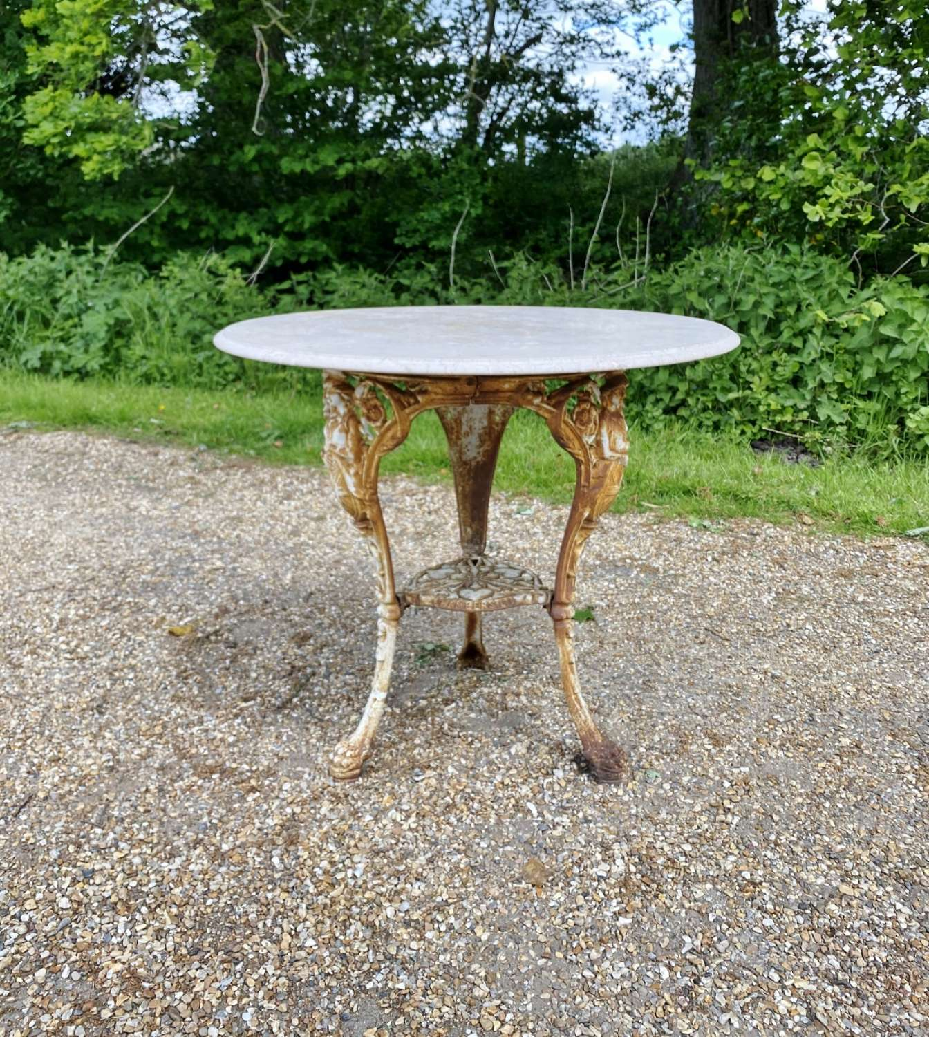 Gaskell Chamber Iron and Marble Table
