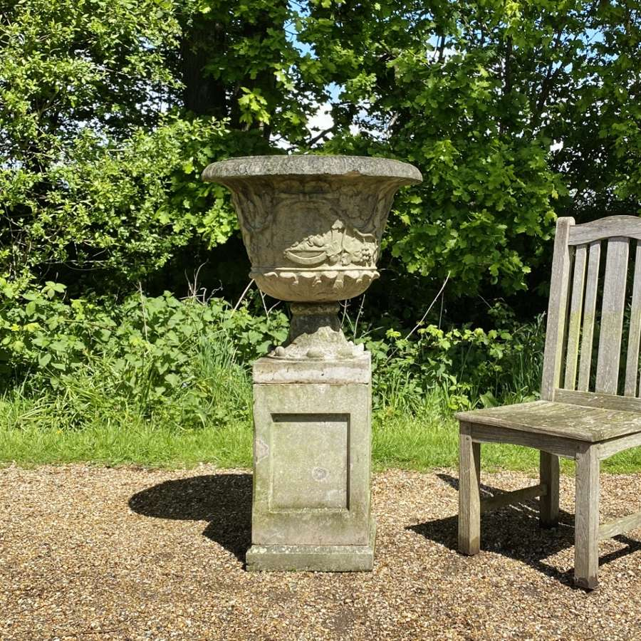 French Urn and Pedestal